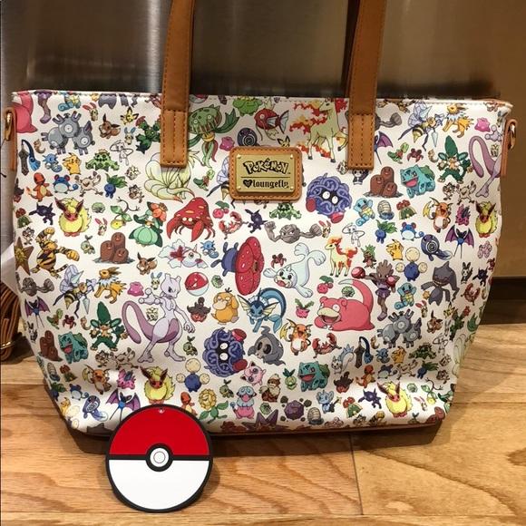 cf9c9463de8b Pokémon loungefly handbag bag purse tote Boutique